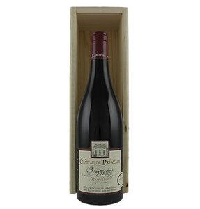 Geschenkpakket Chateau de Prémeaux Bourgogne Pinot noir vv in houten kist